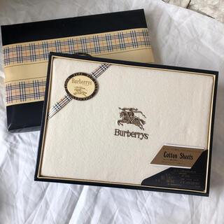 BURBERRY - 新品★上質日本製 西川産業 コットンシーツ バーバリー Burberrys