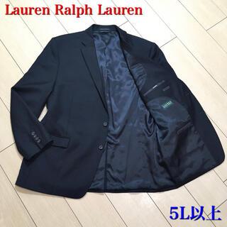 ラルフローレン(Ralph Lauren)の美品★ラルフローレン 極上ブラックテーラードジャケット 総裏 黒 春秋冬A631(テーラードジャケット)