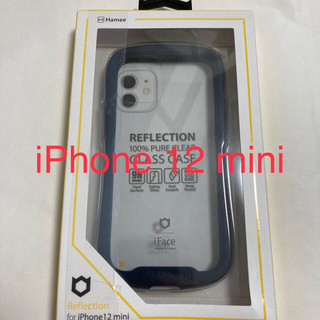 iPhone - iPhone12 mini用 iFace Reflection強化ガラスネイビー
