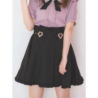 ロジータ(ROJITA)の裾フリルハートビジュバックルスカート(ミニスカート)