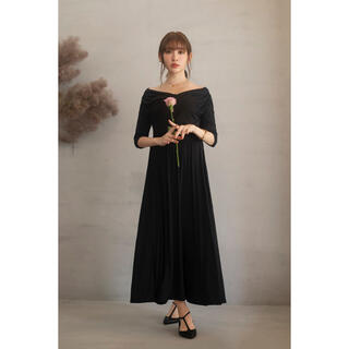snidel - Her lip to Cache Coeur Jersey Long Dress