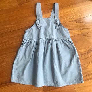 フタフタ(futafuta)のソスピタ 水色ジャンパースカート 95(ワンピース)