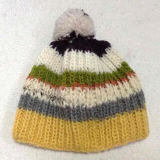 色々ボーダーのニット帽(帽子)