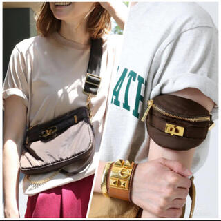 ドゥーズィエムクラス(DEUXIEME CLASSE)のシータパランティカ バッグ2点セットブラウン美品(ショルダーバッグ)