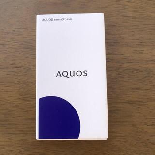 SHARP - AQUOS. sense3. basic.     SHV48