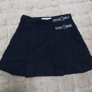 ザラキッズ(ZARA KIDS)のzara 116cm ネイビー ウールプリーツスカート(スカート)