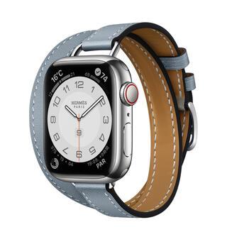 Hermes - HERMES Apple Watch 7 アトラージュ 本体セット ブルーラン