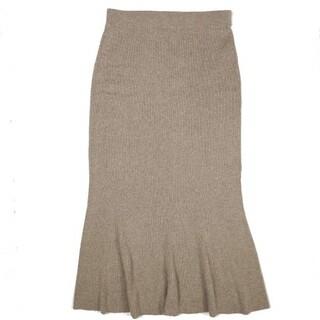 IENA SLOBE - SLOBE IENA 19AW ホールガーメントマーメイドニットスカート 40