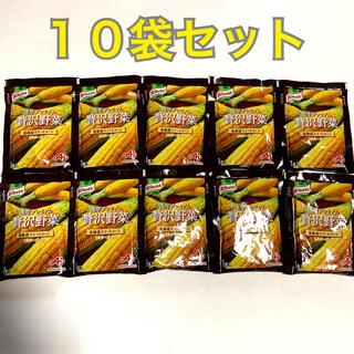 アジノモト(味の素)の通販限定! 味の素・クノール濃厚プレミアム贅沢野菜 北海道スイートコーン 10袋(インスタント食品)