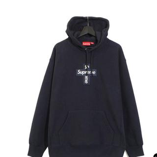 Supreme - supreme Cross Box Logo Hooded navy