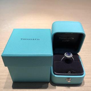Tiffany & Co. - ティファニーソレスト リング プラチナ ダイヤ タンザナイト 美品