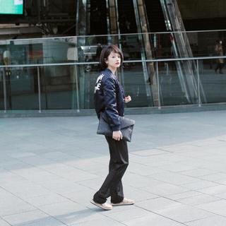 メゾンキツネ(MAISON KITSUNE')の松本恵奈着 MAISON KITSUNE メゾンキツネ テディジャケット(ブルゾン)