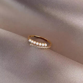 エテ(ete)のパール&ジルコニア指輪 リング ゴールド(リング(指輪))
