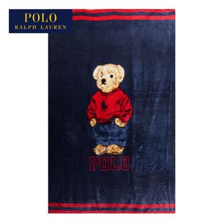 ポロラルフローレン(POLO RALPH LAUREN)のポロ ラルフローレン ブランケット POLO bear ポロベア クマ 毛布 紺(毛布)