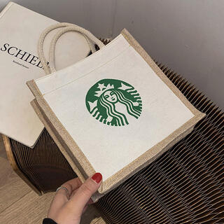 Starbucks Coffee - スターバックス トートバッグ スタバ 海外限定 ホワイト