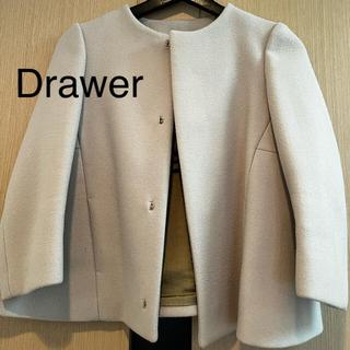 ドゥロワー(Drawer)のドゥロワー drawer ノーカラージャケット(ノーカラージャケット)