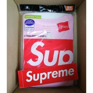 Supreme - 21fw Supreme Hanes Tagless Tees 2 Pack M