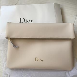 Dior - ディオール Dior ポーチ ホワイト ノベルティ 非売品 ロゴ チャーム