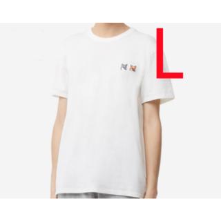メゾンキツネ(MAISON KITSUNE')の新品 MAISON KITSUNE  メゾンキツネ ブラックTシャツ(Tシャツ(半袖/袖なし))