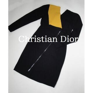 Christian Dior - 【正規品】◆Miss Dior◆ ブラック × イエロー ニット ワンピース