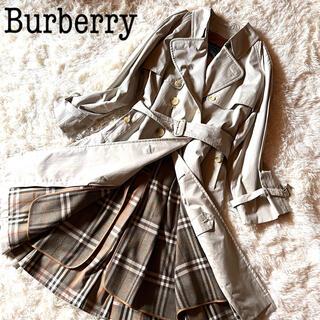 BURBERRY - 【未使用に近い】バーバリー トレンチコート ノバチェック ライナー付き 美品 L