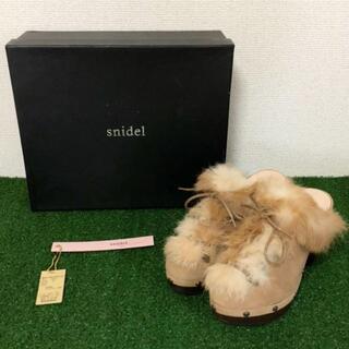 スナイデル(snidel)のSNIDEL スナイデル サボ シューズ 22.5cm ブラウン クリーニング済(サンダル)