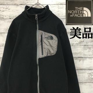 THE NORTH FACE - 美品 正規品 ノースフェイス フリース 刺繍ロゴ ブラック ポケット ブラック