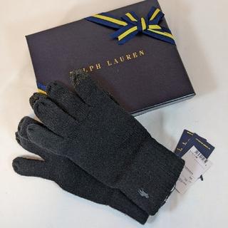 ポロラルフローレン(POLO RALPH LAUREN)のポロ ラルフローレン メンズ 手袋 ブラック タッチパネル対応(手袋)