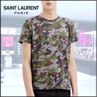 Saint Laurent - SAINT LAURENT サンローラン カモフラ Tシャツ
