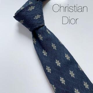 Christian Dior - クリスチャンディオール ネクタイ 総柄 紺色 パリ カジュアル