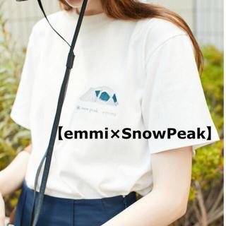 スノーピーク【emmi×SnowPeak】キャンプ・テント柄・Tシャツ(Tシャツ(半袖/袖なし))