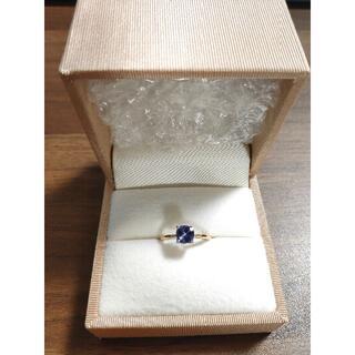 タンザナイト K18 リング 9号 bizoux ビズー セラム 指輪