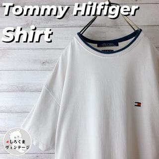TOMMY HILFIGER - 【トミーヒルフィガー】半袖 シャツ ワンポイント 刺繍ロゴ