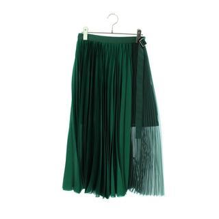 サカイ(sacai)のサカイ 20SS 20-05026 プリーツ ロングスカート 0(ひざ丈スカート)