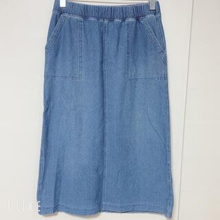 ユニクロ(UNIQLO)のユニクロ デニムジャージースカート Lサイズ(その他)