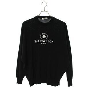 バレンシアガ(Balenciaga)のバレンシアガ ロゴエンブロイダリー ドロップショルダーニット 34(ニット/セーター)