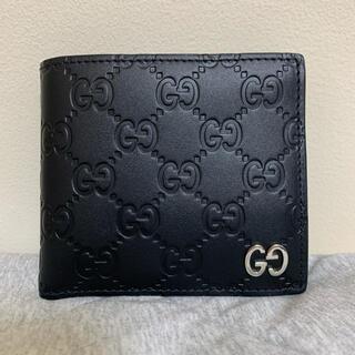 Gucci - GUCCI 折り財布 ブラック ドリアンシグネチャー