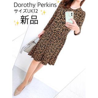 DOROTHY PERKINS - 【新品✨】日本未発売❤️ドロシーパーキンス✨サイズUK12✨小花柄ワンピース