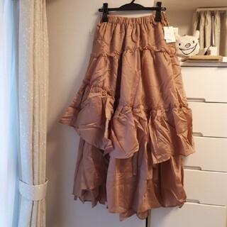 グレイル(GRL)のグレイル シアーフリルフレアスカート iz316(ロングスカート)