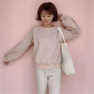 one after another NICE CLAUP - treat ürself Daydreamer sweat(pink)