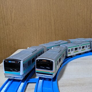 トミー(TOMMY)のプラレール★ E233系埼京線 E231系宇都宮線セット(鉄道模型)