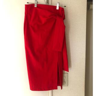 ロイヤルパーティー(ROYAL PARTY)のROYALPARTY リボンマークスリットスカート (ひざ丈スカート)