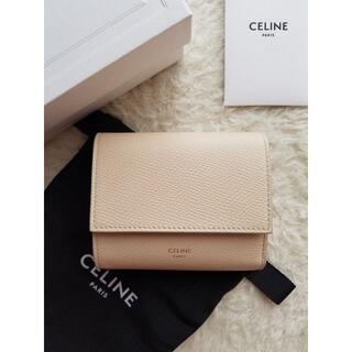celine - CELINE セリーヌ グレインド カーフスキン 3つ折り財布