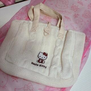 サンリオ(サンリオ)のキティ 毛糸のトートバッグ 2000(トートバッグ)