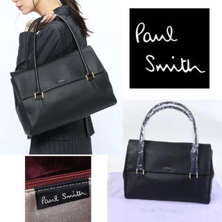 ポールスミス(Paul Smith)の新品 ポールスミス ハンティング レザートートバッグ黒(トートバッグ)