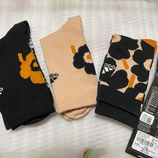 マリメッコ(marimekko)のマリメッコ アディダス 靴下 ソックス sサイズ 22.0〜24.0(ソックス)