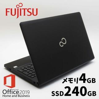 富士通 - 富士通ノートパソコン/2017/新品SSD/メモリ4GB/Office2019✨