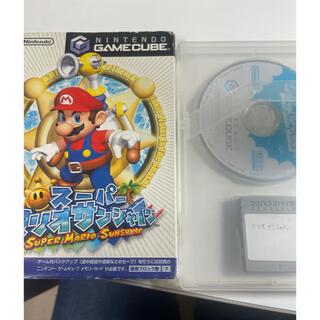 ニンテンドーゲームキューブ(ニンテンドーゲームキューブ)のマリオサンシャイン ゲームキューブソフト(家庭用ゲームソフト)