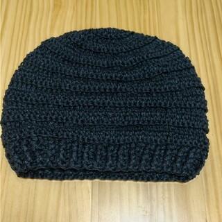 手編みのニット帽子🖤(帽子)