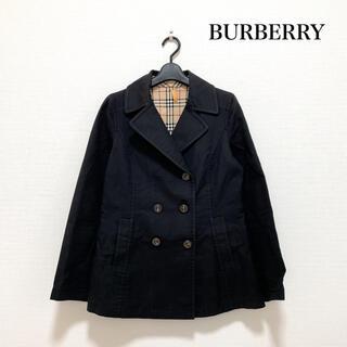 バーバリーブルーレーベル(BURBERRY BLUE LABEL)のBURBBRY BLUE LABEL ショートトレンチ 黒 40号 ノバチェック(トレンチコート)